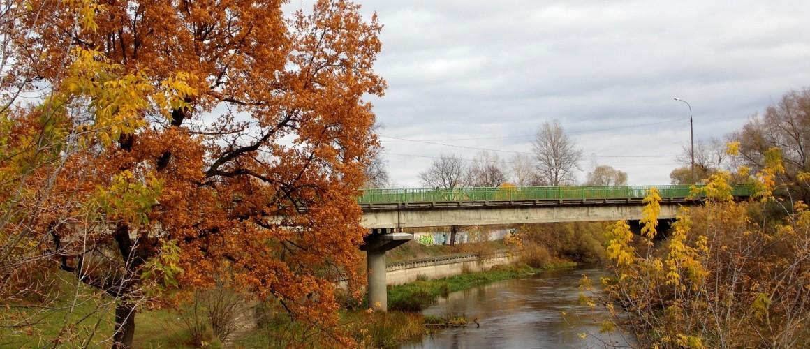 Мост через реку Лугу в черте города